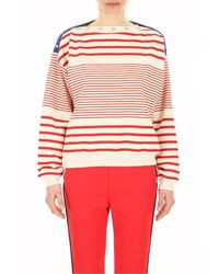 Philosophy Red Striped Top With Printed Logo