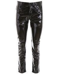 N°21 Black Vinyl Trousers
