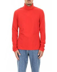 CALVIN KLEIN 205W39NYC Red Turtleneck Top for men