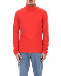 CALVIN KLEIN 205W39NYC Red Turtleneck Top for men