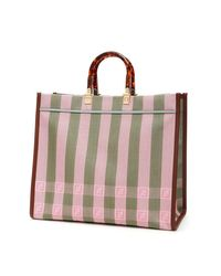 Fendi Multicolor Medium Sunshine Ff Vichy Pequin Tote Bag