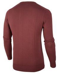 Cavallaro Napoli Marcello R-neck Pullover in het Red voor heren
