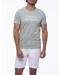 Cavallaro Napoli Men T-shirt - Ariosto Tee - Groen - 95% Katoen, 5% Elastaan in het Green voor heren