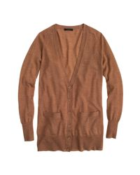 J.Crew - Brown Classic Merino Wool Long Cardigan Sweater - Lyst