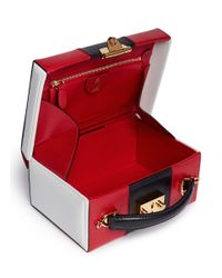 Mark Cross - Multicolor 'Grace' Small Stripe Saffiano Leather Trunk - Lyst