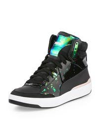 23f2d5f4f54a Sneaker X Alexander Top Brace Mcqueen Mid Femme Black In Lyst Puma 8pnAwZwx