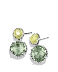 David Yurman - Green Chatelaine Double-drop Earrings With Prasiolite And Lemon Citrine - Lyst