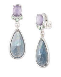 Anne Klein   Blue Crystal Teardrop Earrings   Lyst