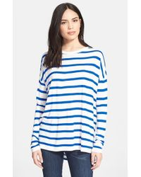 Vince - Blue Long Sleeve Crewneck Tee - Lyst