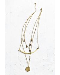 Urban Outfitters | Metallic Mystic Coin Layering Necklace | Lyst