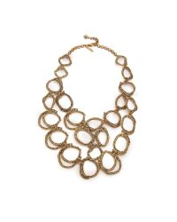 Oscar de la Renta | Metallic Circle Necklace - Russian Gold | Lyst