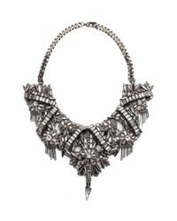Deepa Gurnani | Metallic Velma Necklace | Lyst