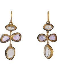 Judy Geib - White Pink Sapphire & Herkimer Diamond Earrings Size Os - Lyst
