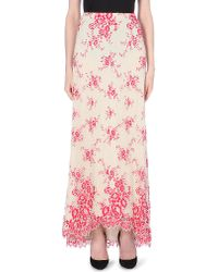 Alice + Olivia Multicolor Kira High-Low Organza Maxi Skirt