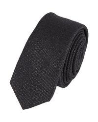 Lanvin | Black Metallic Neck Tie for Men | Lyst