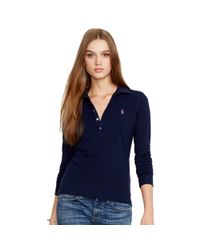 Polo Ralph Lauren Blue Skinny Fit Big Pony Polo Shirt