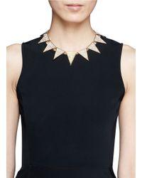 Eddie Borgo Metallic Pavé Large Triangle Necklace