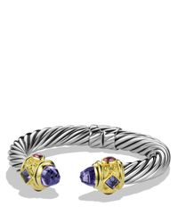 David Yurman - Gray Renaissance Bracelet With Amethyst, Iolite & Gold - Lyst