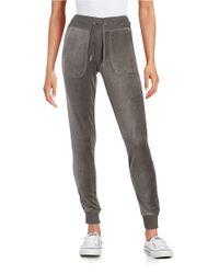 Calvin Klein | Gray Velour Jogger Pants | Lyst