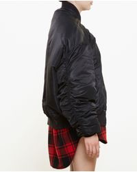 Vetements - Black Oversized Bomber Jacket - Lyst