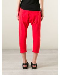 MM6 by Maison Martin Margiela | Red Tie Detail Cropped Track Pants | Lyst