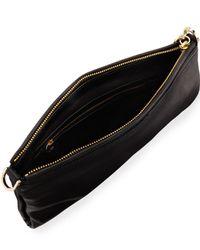 Halston - Black Crossbody Leather Clutch Bag - Lyst