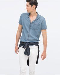 Zara | Blue Denim Shirt for Men | Lyst