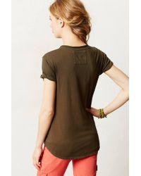 Anthropologie | Green Garment Dyed V Neck | Lyst
