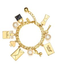 kate spade new york - Metallic Charming Charm Bracelet - Lyst