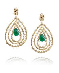 Rosantica Green Daniela Gold-Dipped Agate Earrings
