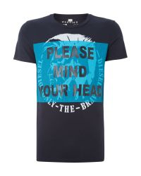 DIESEL | Blue T-shirt for Men | Lyst