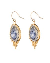 Alexis Bittar | Metallic Feather Sodalite Earring | Lyst