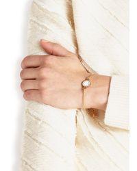Marc By Marc Jacobs | Metallic Logo Disc-o Cream Enamel Bracelet | Lyst