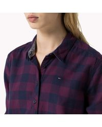 Tommy Hilfiger - Purple Flannel Check Shirt - Lyst