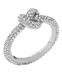 Michael Kors | Metallic Pavé Knot Ring | Lyst