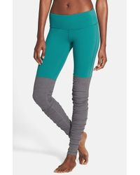 Alo Yoga | Blue 'Goddess' Ribbed Leggings | Lyst