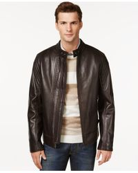 Andrew Marc | Brown Windsor Leather Jacket for Men | Lyst