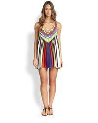 Mara Hoffman - Multicolor Rays Jersey Swing Mini Dress - Lyst