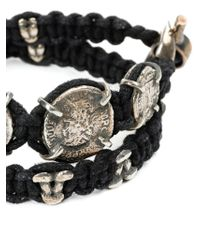 Tobias Wistisen | Black Braided Coin Bracelet for Men | Lyst