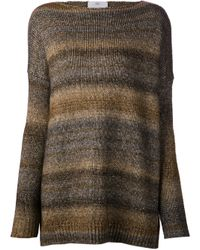 Allude | Brown Metallic Sweater | Lyst