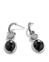 David Yurman - Metallic Renaissance Drop Earrings With Black Onyx & Diamonds - Lyst