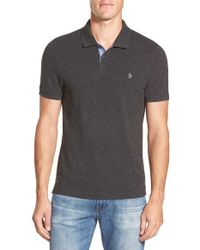 Original Penguin Gray 'donegal' Pique Polo for men
