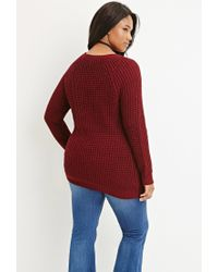 Forever 21 | Purple Plus Size Chunky Knit Sweater | Lyst