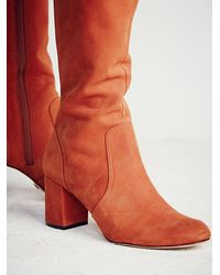 Free People | Orange Karina Tall Boot | Lyst