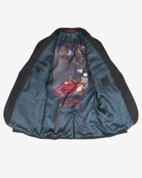 Ted Baker | Black Micro Design Jacket for Men | Lyst