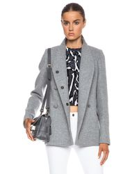 Proenza Schouler - Gray Wool Cashmere Double Breasted Jacket - Lyst