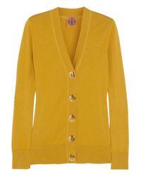 Tory Burch Yellow Simone Cotton Cardigan