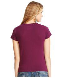 Polo Ralph Lauren Purple Crew-neck T-shirt