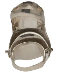 Vivienne Westwood Anglomania | Metallic Brand Emblem Ring | Lyst