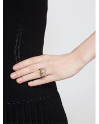 Yvonne Léon | Green 18Kt Gold And Black Diamond Leopard Ring | Lyst